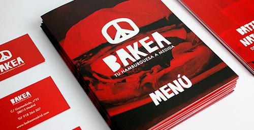 Diseño de logotipo para restaurante BAKEA