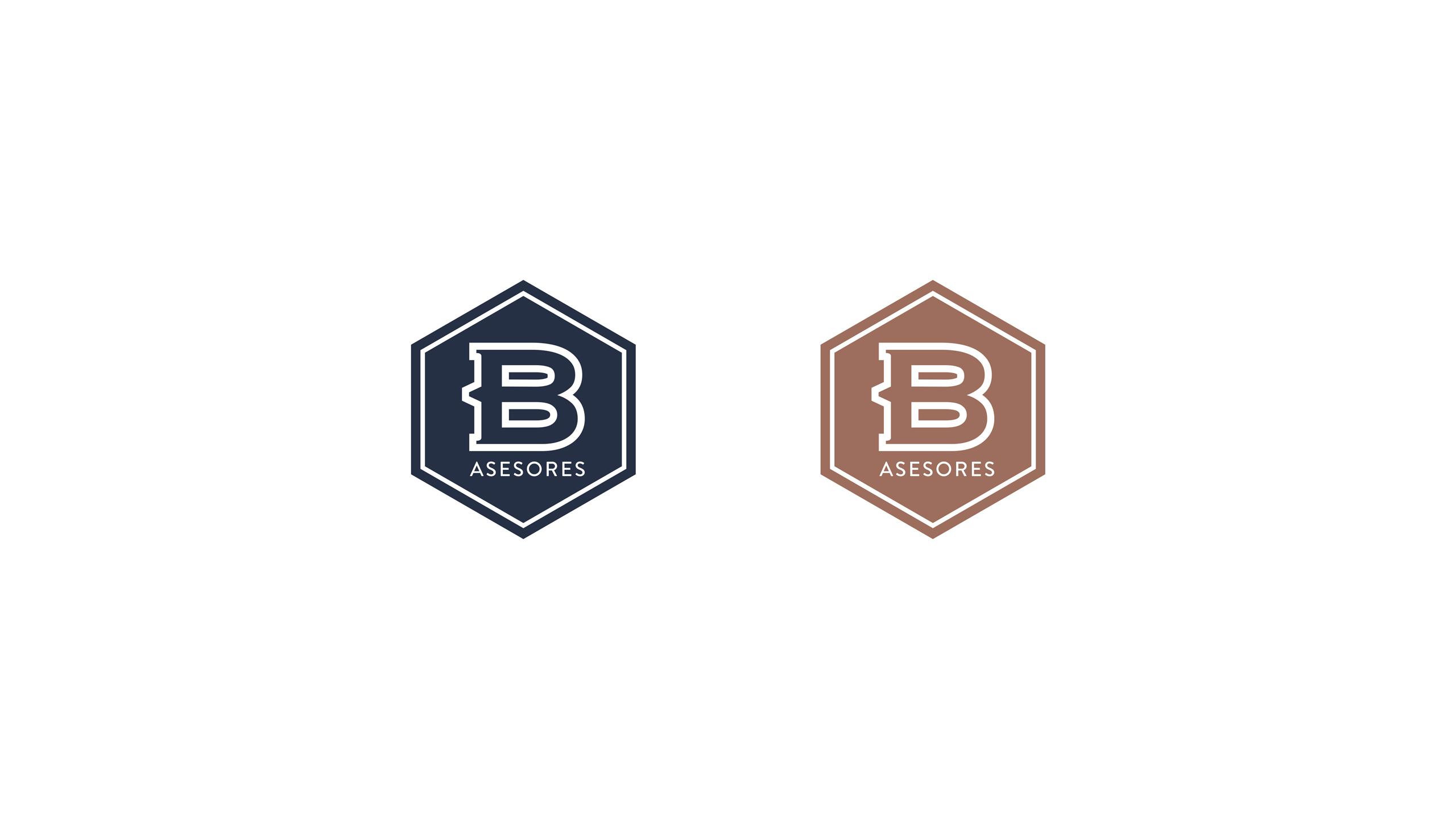 Logotipo secundario sobre fondo blanco Benayas Asesores Rediseño de identidad corporativa