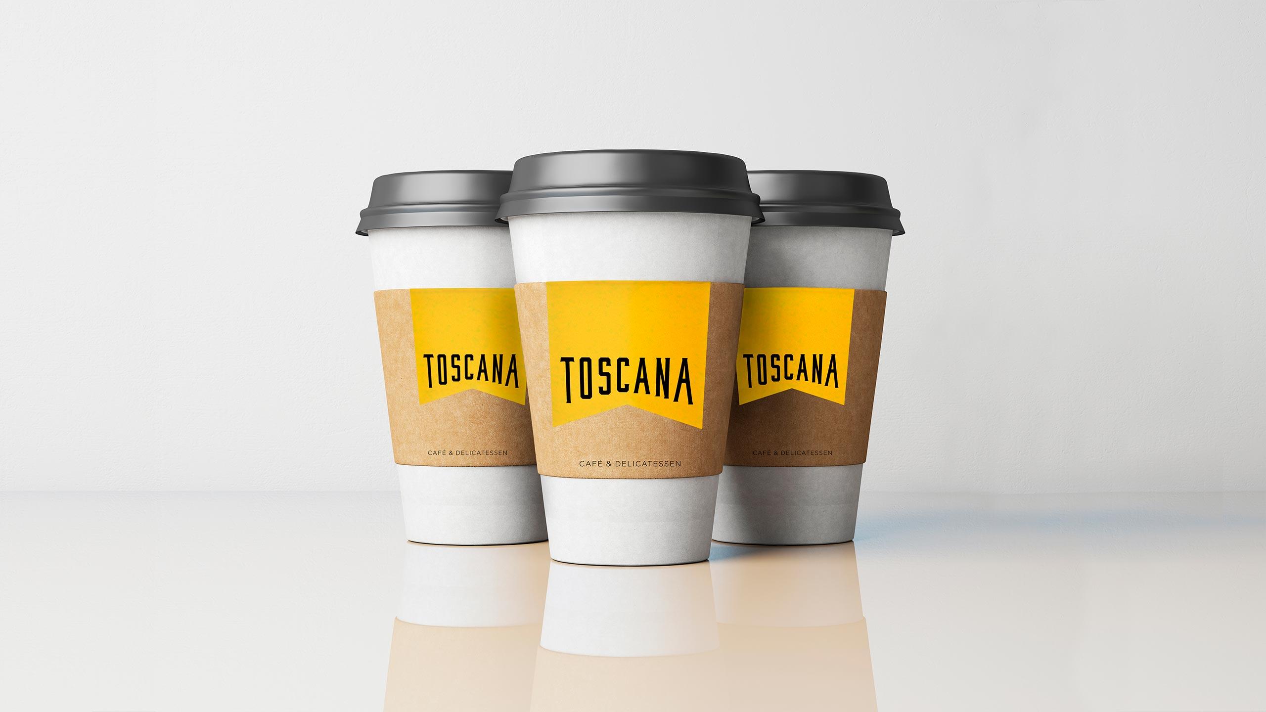 Diseño de tazas para la cafetería Toscana Madrid