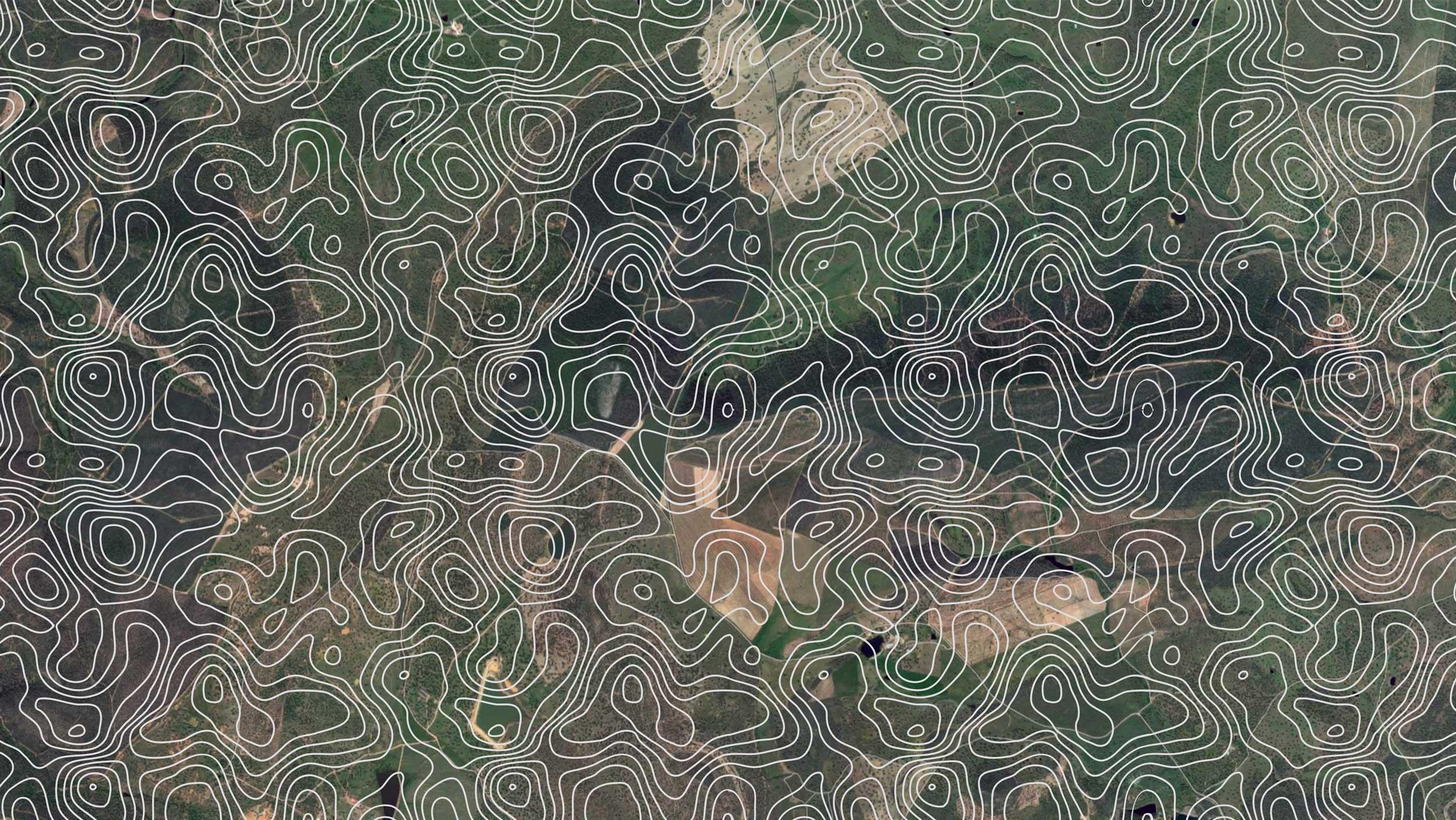 Diseño de texturas geográficas para Aceite Retamar