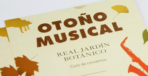 Diseño de gráfica para el ciclo de conciertos Otoño Musical del Real Jardín Botánico de Madrid